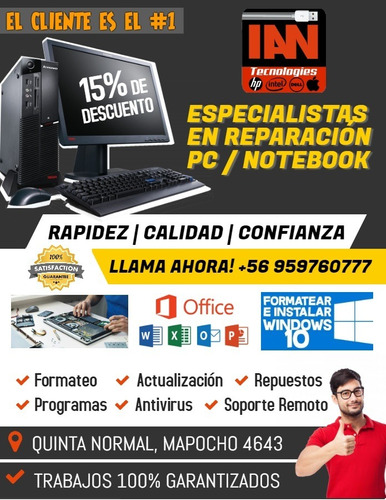 reparación & repuestos pc - notebook