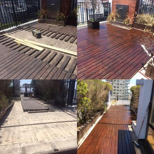 reparacion restauración  de decks,  diseño, proyectos