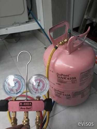 reparación / service aire acondicionado split, carga de gas.