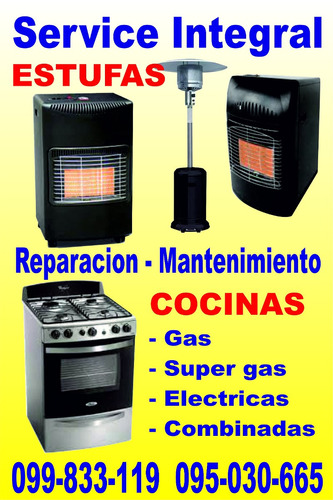 reparacion -service - cocinas estufas !