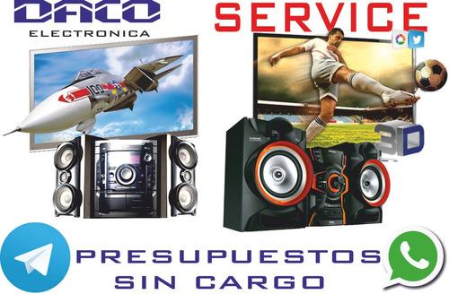 reparacion service equipos de audio, tv ,lcd ,led,smart