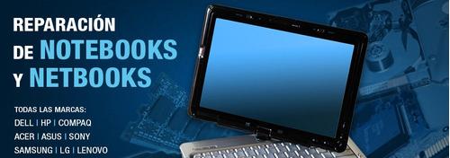 reparación service notebook pc pantalla teclado bisagra