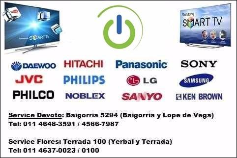 reparación service servicio técnico tv lcd led t/marcas