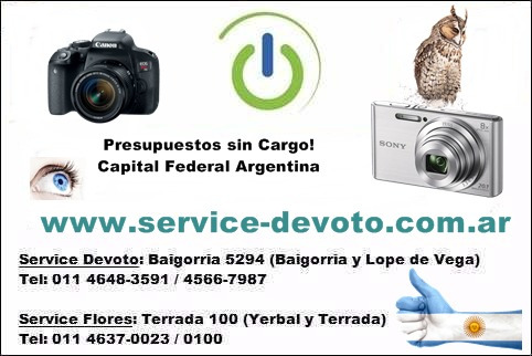 reparación servicio técnico cámaras digitales reflex tmarcas
