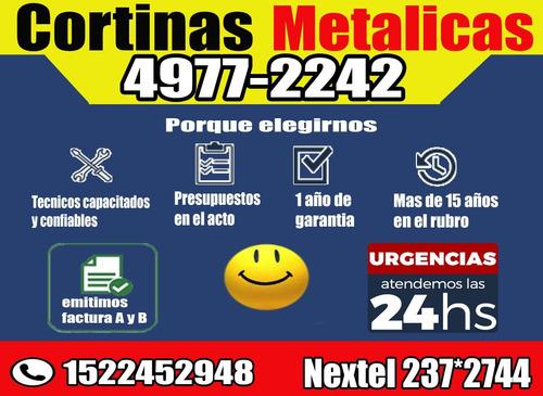 reparacion servicio técnico cortinas metalicas urgencias 24h