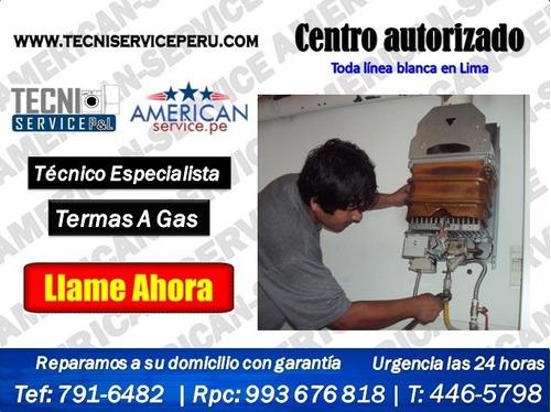 reparacion servicio tecnico de termas a gas junkers rheem