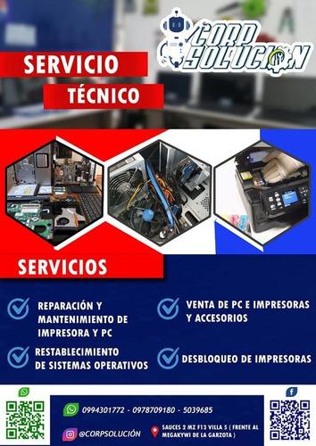 reparación servicio técnico impresora laptop cpu
