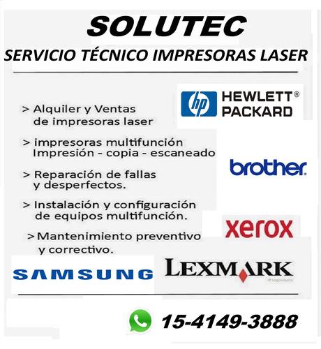 reparación servicio técnico impresora laser brother hp xerox