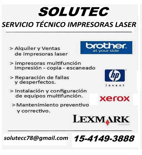 reparación servicio técnico impresoras laser brother hp xero