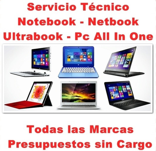 reparación servicio técnico notebook hp lenovo asus sony etc