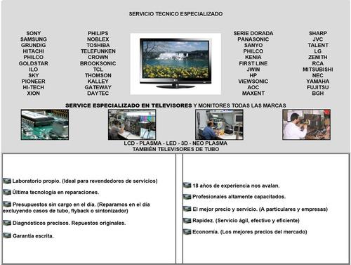 reparación servicio técnico service led smart tv lcd