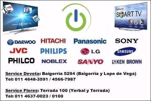 reparación servicio técnico tv lcd led sony samsung rca etc