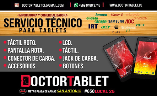 reparación tablet tactil touch aoc olidata masterg microlab