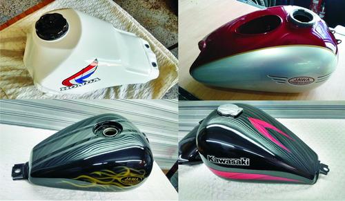 reparacion tanques moto pintura tratamiento custom