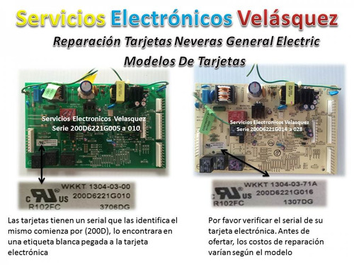 reparacion tarjeta nevera general electric wkkt 1304-03-00