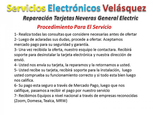 reparacion tarjeta nevera general electric wkkt 1304-03-71a