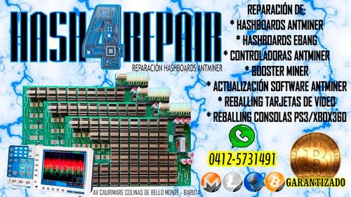 reparacion tarjetas antminer hashboards controladoras s9 t9