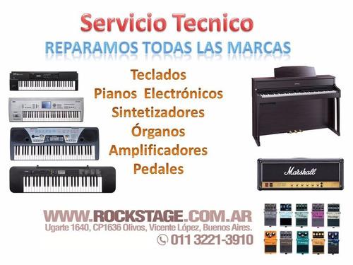 reparación teclados pianos organos sintetizadores service