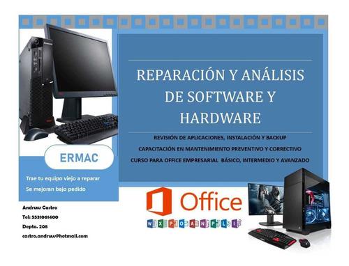 reparacion, venta de equipo de computo y software ermac