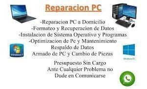 reparación y actualización de pc