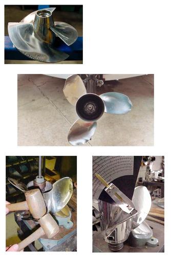 reparación y balanceo de propelas, quilla, buje y ejes