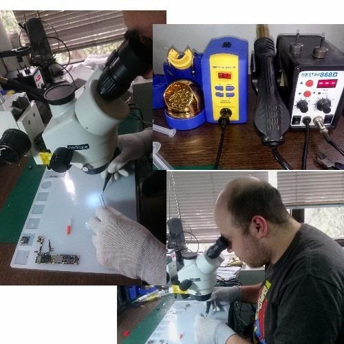 reparación y baño químico para iphone mojados