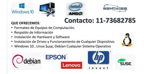 reparación y configuración de computadoras