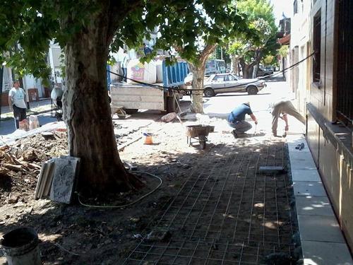 reparacion y construccion de veredas, patios,terrasas etc.