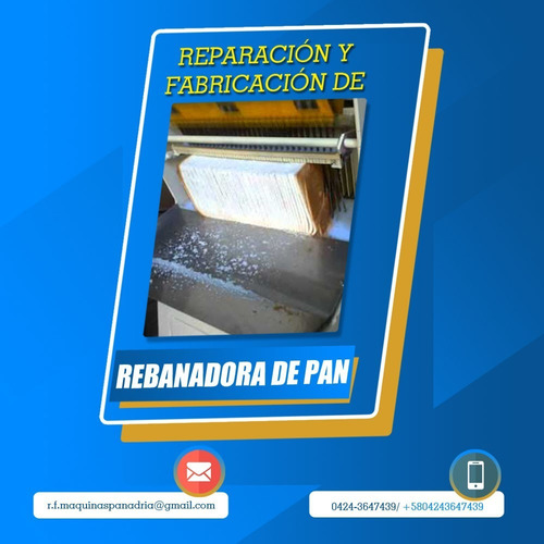 reparación y fabricación de máquinas para panadería