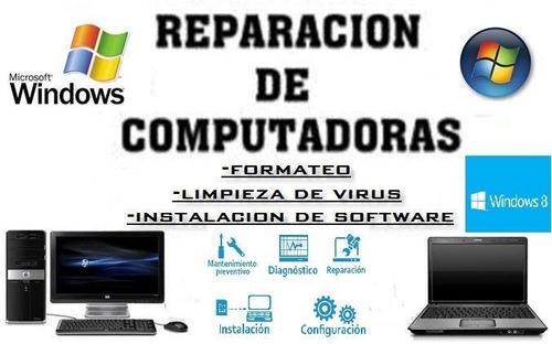 reparacion y formateo de laptos y computadoras