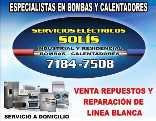 reparacion y instalacion de bombas y calentadores de agua