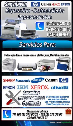 reparacion y mant de impresora, copiadoras, microondas