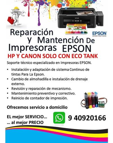 reparación y mantencion de impresoras, especialidad en epson