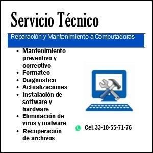 reparación y mantenimiento a equipos de computo