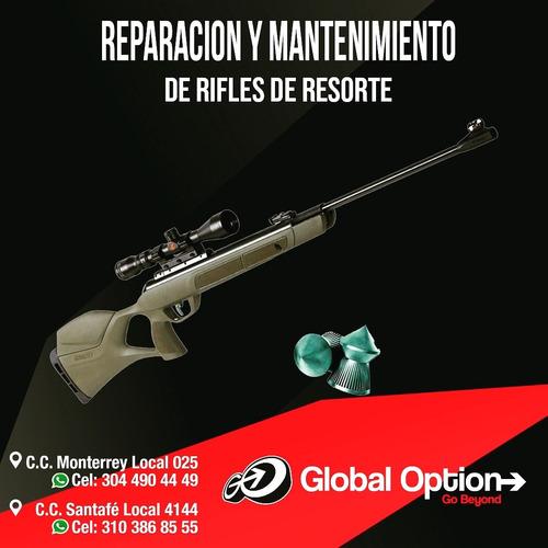 reparación y mantenimiento de armas