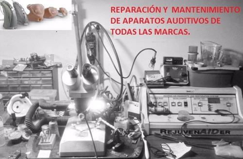 reparación y mantenimiento de auxiliares autidivos