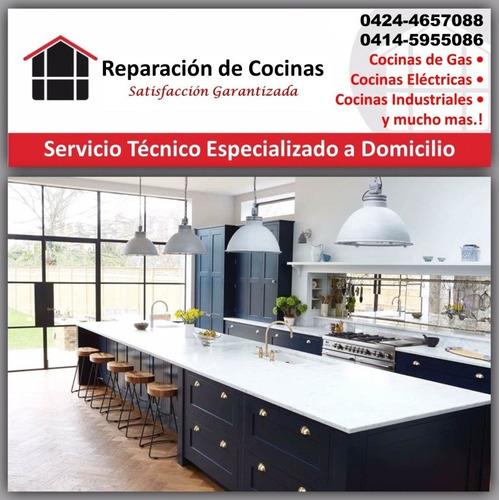 reparacion y mantenimiento de cocina, hornos, topes, fugas