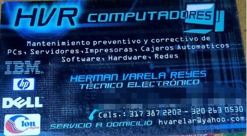 reparación y mantenimiento de computadoras y impresoras