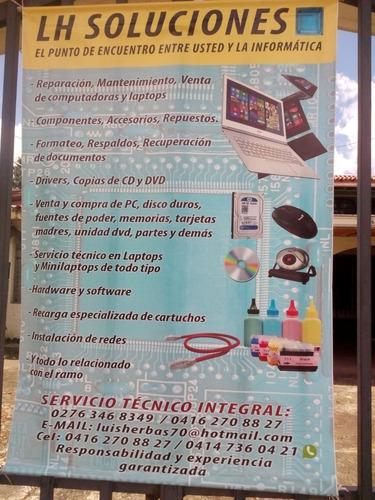 reparación y mantenimiento de computadoras y laptops