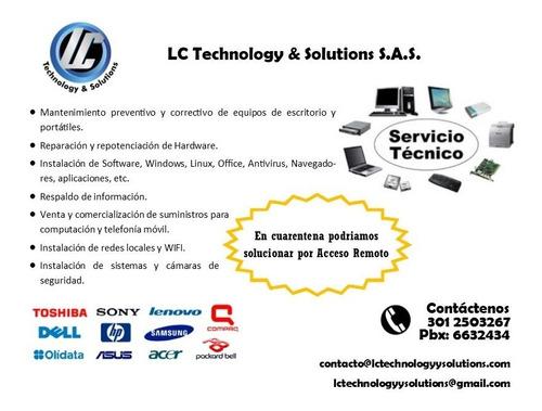 reparación y mantenimiento de computadores portátiles / pcs