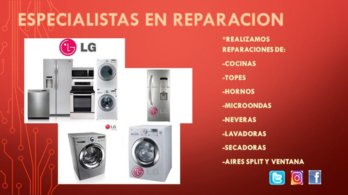 reparacion y mantenimiento de lavadoras lg