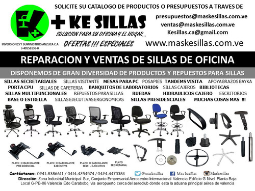 reparación y mantenimiento de sillas de oficina maskesillas