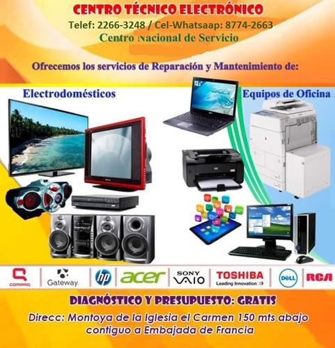 reparación y mantenimiento equipos del hogar y oficina.