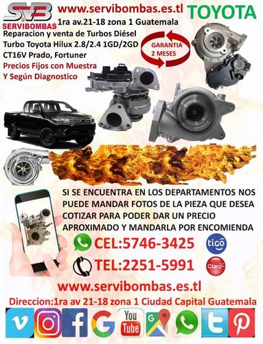 reparación y venta de turbos diesel  toyota 2kd,1kd,1kz,1gd