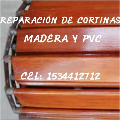reparacion y ventas cortinas madera y pvc zona norte