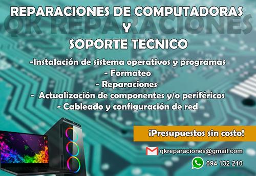 reparaciones de computadoras y soporte técnico