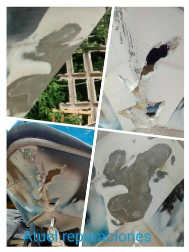 reparaciones en fibra de vidrio;lanchas,kayaks,piraguas,etc.