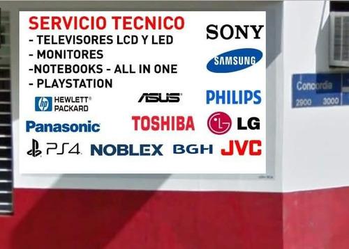 reparaciones service tv lcd led philco philips hitachi 4,8k