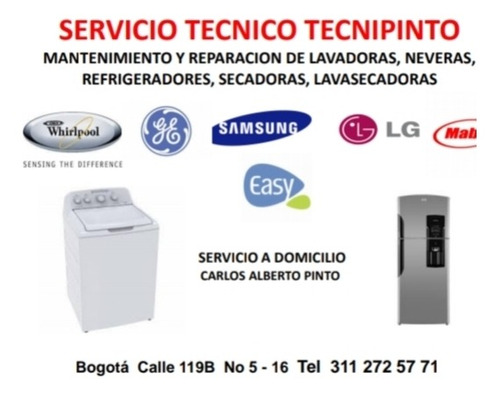 reparaciones y mantenimiento, lavadoras y secadoras