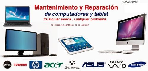 reparacion,mantenimiento preventivo y formateo.